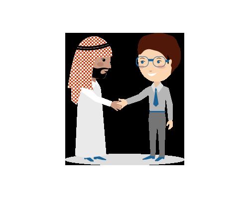45 handshake german arab