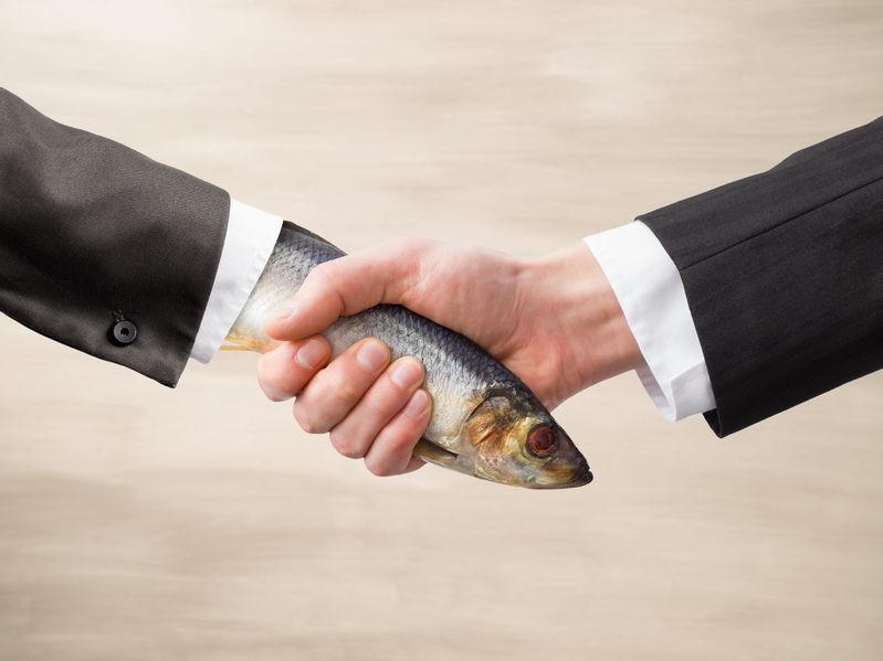 36084050 - dead fish handshake